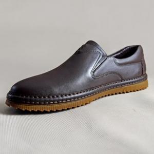 Giày nam da bò 640 nâu