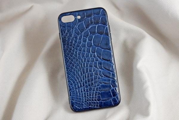 Ốp lưng da cá sấu Iphone 7+ xanh dương