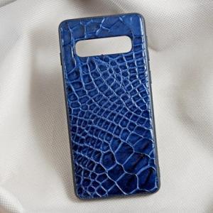 Ốp lưng da cá sấu Samsung S10 xanh dương