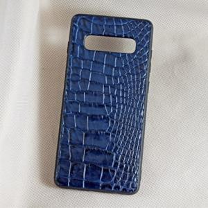 Ốp lưng da cá sấu Samsung S10-Plus xanh dương