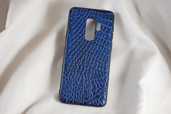 Ốp lưng da cá sấu Samsung S9+ xanh dương