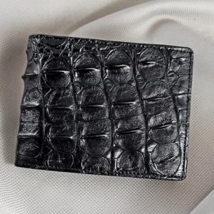 Bóp nam da cá sấu gai đen size lớn 02