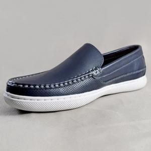 Giày nam da bò 6660 xanh dương
