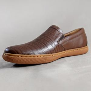 Giày nam da bò 654 nâu