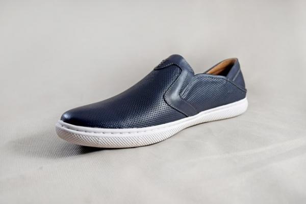 Giày nam da bò 656 xanh dương