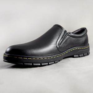Giày nam da bò 641 đen