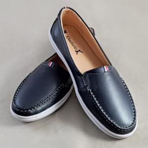 Giày nữ da bò 696 xanh dương