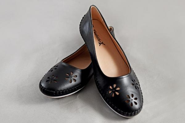 Giày nữ da bò 698 đen