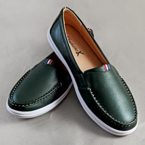 Giày nữ da bò 696 xanh rêu