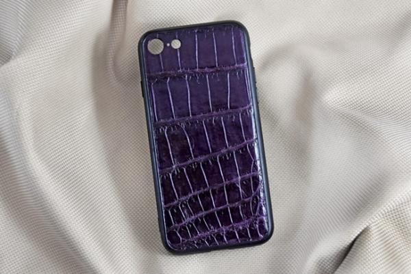Ốp lưng da cá sấu Iphone 7 tím
