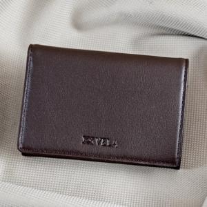 Ví namecard da bò Logo Vela nâu