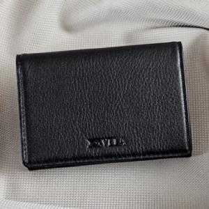 Ví namecard da bò Logo Vela đen