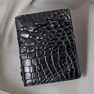 Bóp nam đứng da cá sấu đen 01