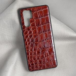 Ốp lưng da cá sấu Samsung P30-PRO nâu đỏ