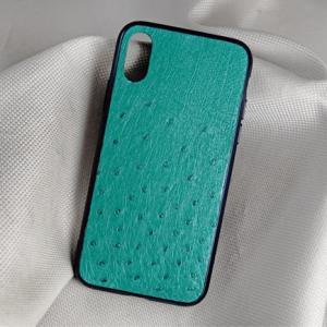 Ốp lưng da đà điểu Iphone XR xanh ngọc