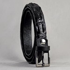 Thắt lưng nữ da cá sấu gai đen 01