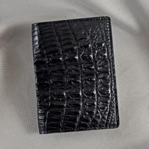Ví nhỏ da cá sấu Diamon đen