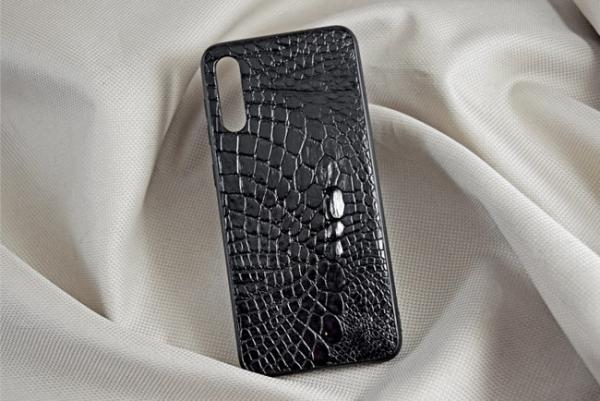 Ốp lưng da cá sấu Samsung A50 đen