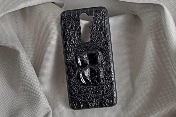 Ốp lưng da cá sấu Samsung NOTE 8 Pro gù đen