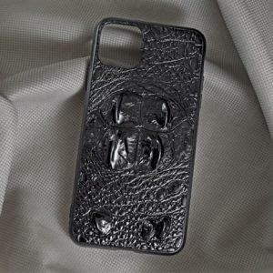 Ốp lưng da cá sấu Iphone 11 Pro Max gù đen