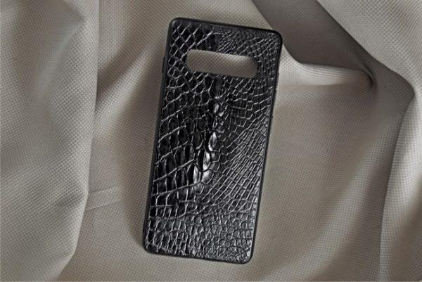 Ốp lưng da cá sấu Samsung S10 Plus đen