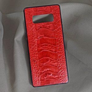 Ốp lưng da đà điểu Samsung NOTE 8 đỏ