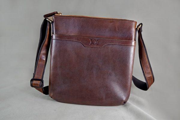 Túi đeo da bò Messenger Bag Nali Patina