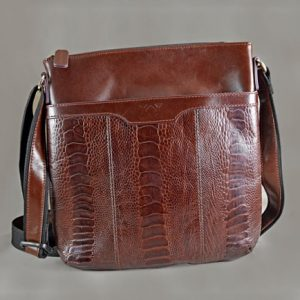 Túi đeo da đà điểu Messenger Bag Nali