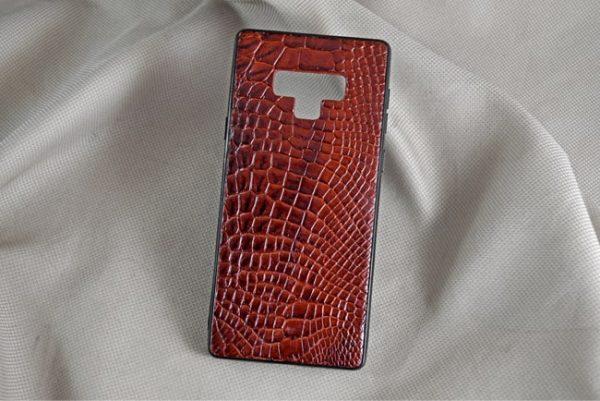 Ốp lưng da cá sấu Samsung NOTE 9 nâu đỏ